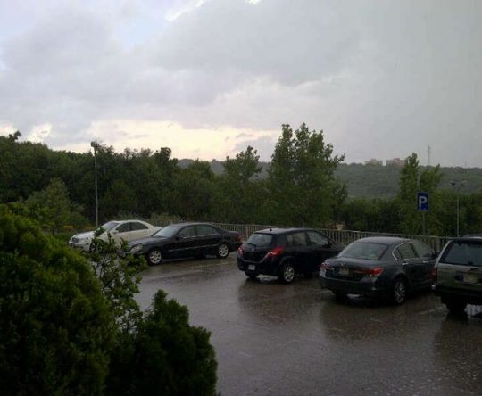 Koura / Fih – What do you know! winter is back. Heavy rain over Fih area.