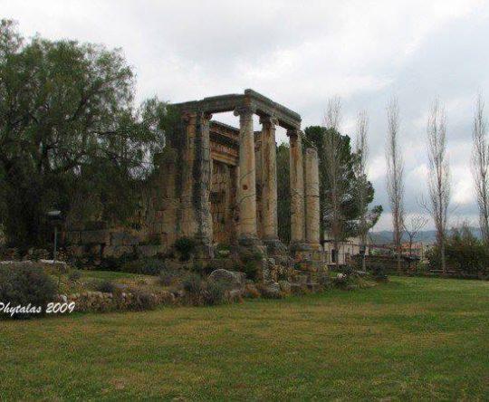 "Temple of ""god Azizos"" in Bziza – Al Koura"