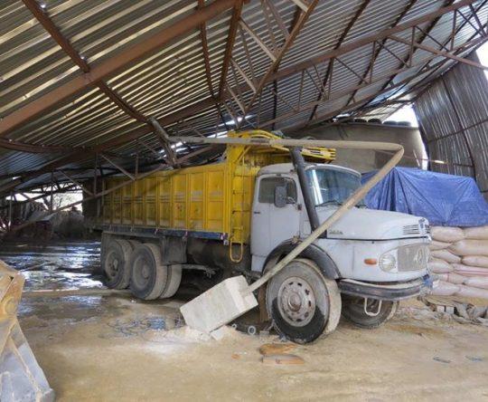 من اضرار العاصفة في أميون الكورة
