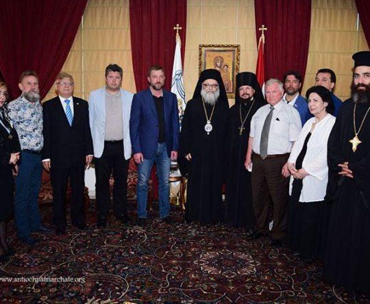 البطريرك يوحنا العاشر يلتقي وفدًا روسيًّا في البلمند