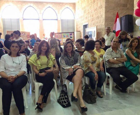 افتتاح المعرض السنوي للاشغال في متوسطة كوسبا للبنات