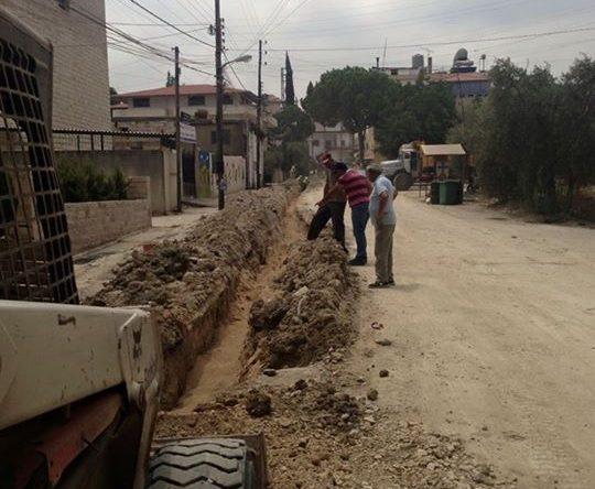 حفريات في بلدة كفرعقا لمد شبكة مياه جديدة