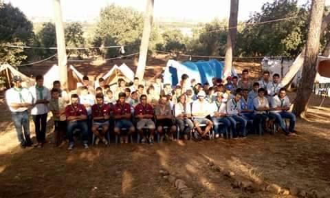 اختتام مخيم خليل جمال الدين الكشفي في بشمزين