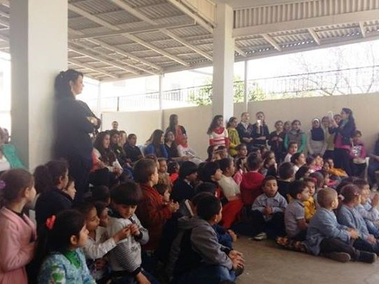 مدرسة كفرعقا الرسمية للبنات احتفلت بعيد المعلم