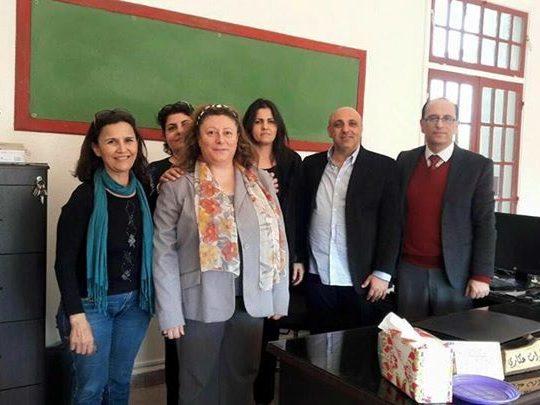 زيارة لرئيس بلدية أميون أمس الأستاذ غسان كرم