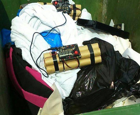 العثور على جسم مشبوه داخل احد مستوعبات النفايات على طريق أميون دارشمزين