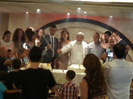 حفل غداء للشبيبة الأرثوذكسية في كفرعقا برعاية كرياكوس