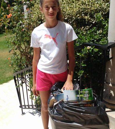 مبادرة بيئية فردية من إبنة ال ۱٢ عاماً إلسا خليل أرمش من بدبا الكورة