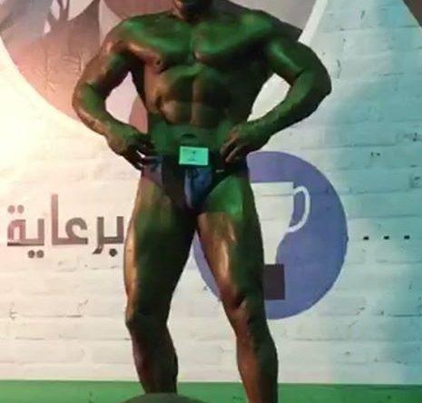 أديب موسي ابن عابا بطل لبنان في كمال الأجسام