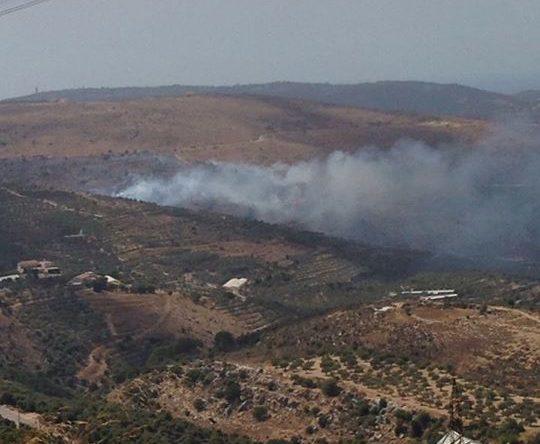 حريق كبير على طريق بزيزا كفتون