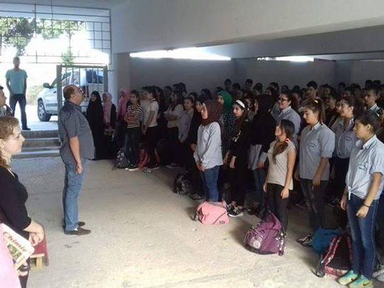 رئيس بلدية أميون يفتتح العام الدراسي في ثانوية أميون الرسمية