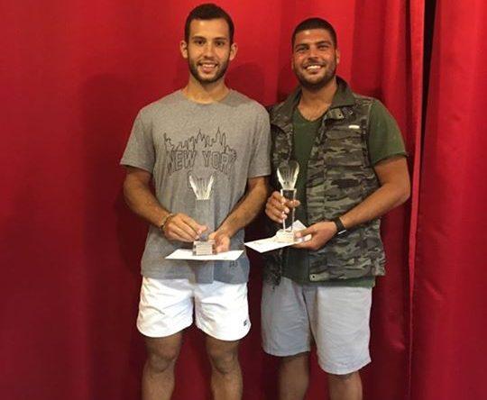 ابراهيم ابو شاهين ابن أميون ونجيب فقيه بطل لبنان في كرة المضرب فازا ببطولة Jeita Country Club