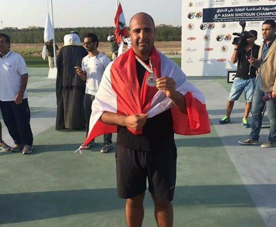 الكورة كفرعقا – الميدالية البرونزية ل الان موسى في بطولة آسيا لل TRAP