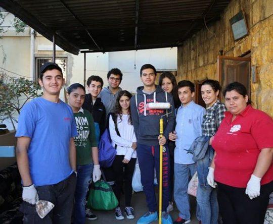شبيبة كاريتاس لبنان إقليم الكورة قامت بصيانة منازل في راسمسقا أميون و أنفه