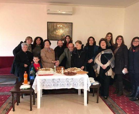 عيد القديس افرام السوري وتكريم كبارنا بمناسبة عيد دخول السيد الى الهيكل في كنيسة القديس فوقا كفتون